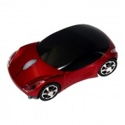 Coche Estilo 2.4GHz Wireless Optical Mouse w / receptor - Rojo + Negro