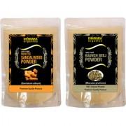 Donnara Organics 100% Natural Sandalwood Powder and Kaunch Beej powder Combo pack of 2 of 150 gms(300 gms)