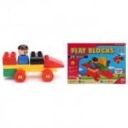 Virgo Toys Play Blocks Car Set and Plane Set (Combo)