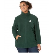 Columbia College Plus Size Michigan State Spartans CLG Give and Gotrade II Full Zip Fleece Jacket Spruce