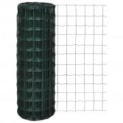 vidaXL Határoló drótkerítés 25 x 1,0 m és 76 x 63 mm Háló