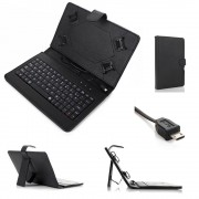 Husa Tableta 10 Inch Cu Tastatura Micro Usb Model X , Negru , Tip Mapa