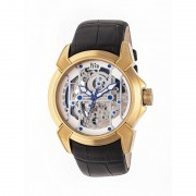 Reign Optimus Automatic Skeleton Leather-Band Watch - Gold/Silver REIRN3803