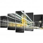 vidaXL Декоративни панели за стена Лондон Биг Бен, 100 x 50 см