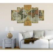Tablou decorativ multicanvas Miracle, 5 Piese, 236MIR2949, Multicolor