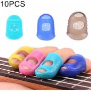10 Pcs Guitarra Ukulele Instrumento De Cuerda Protector Anti - Dolor De Dedo Dedo Cap En Color Al Azar Entrega (Talla: S)