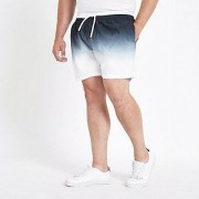 River Island Zwart / Big and Tall - Zwarte dip-dye zwemshort Heren
