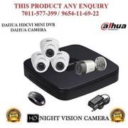 Dahua 1.3 MP HDCVI 4CH DVR + Dahua HDCVI Bullet Camera 1Pcs and Dome Camera 3Pcs Comb