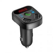 ibasenice Cargador de Coche inalámbrico Puertos USB duales Adaptador de transmisor FM Reproductor de mp3 Llamada Manos Libres Receptor de Radio para teléfono Inteligente