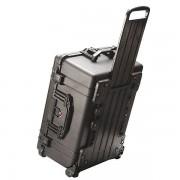 PELI Schutzkoffer mit Rollen - Inhalt 65,9 l, LxBxH 624 x 490 x 303 mm - mit Würfelschaumstoff, schwarz