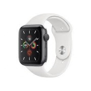 Apple Watch Series 5 44mm Silver Aluminum Case Sportband White