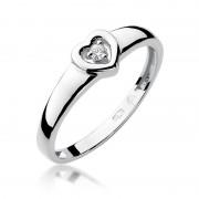 Biżuteria SAXO 14K Pierścionek z brylantem 0,04ct W-1 Białe Złoto GRATIS WYSYŁKA DHL GRATIS ZWROT DO 365 DNI!! 100% ORYGINAŁY!!