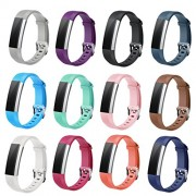 Winsenpro Fitbit Alta HR Bands, 12-Pack Replacement bands for Fitbit Alta and Alta HR, Large Small 12 different colors (12-Pack, Watch Buckle)