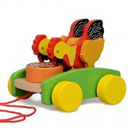 YUYUGO Wooden Pull Toy Kids Walk Along Toddler Toy for Children