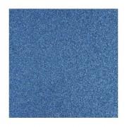 Rayher hobby materialen 1x vellen Scrapbooking papier blauw glitter
