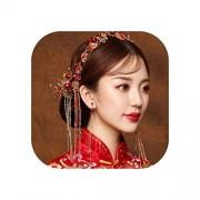 pursuit-of-self Juego de accesorios para el cabello chino, pasador para el pelo, pasador para el pelo, para novia, joyería de pelo tradicional, diadema para el pelo, Pin Earring