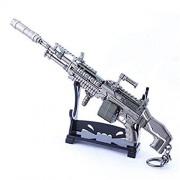 Azlink Apex Legends Game Collection 1/6 Metal M600 LMG Spitfire Gun Modelo Keychain Figura de acción Juguetes Artes Regalo Mochila Colgante Suministros Fiesta computadora Decoración Pistola