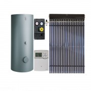 Pachet panouri solare cu tuburi vidate Viessmann Vitosol 200-T cu boiler bivalent Vitocell 100-W de 400 litri