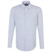 Seidensticker Overhemd Slim Striped Business Kent Blauw / male