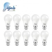 Ujala Led 5W Super-Glow Bulb - 120 Lumen/Watt B22 Base (Aluminium) PC Diffuser 2Year Warranty (Pack of 10)
