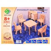 Дървен пъзел 3D (мебели за кухня) EmonaMall - Код W3506