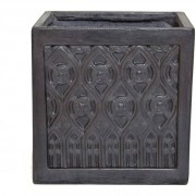 The Pot Co Clayfibre Moroccan Square Planter Available in 5 Sizes