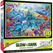 Master Pieces Masterpieces Hidden Images Glow Sea Castle Delight Puzzle de 500 Piezas