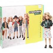 Mattel Creatable World Muñeco Personalizable con Pelo Rubio Ondulado