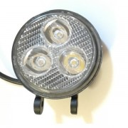 Proiector LED Auto Offroad 3 LEDuri 9W 12V/24V Rotund