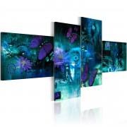 Tableau Papillons en turquoise