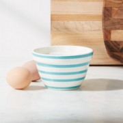 Avery Aqua Stripe Mini Mixing Bowl