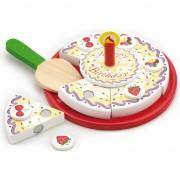 Bucatarie copii New Classic Toys Cutting Cake - Birthday Cream Cake