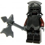 Lego Lord Of The Rings Minifigure: Uruk-hai With Armour Helmet And Axe