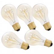 Комплект от 5 броя крушки Античен дизайн Edison [in.tec]®, ø60mm x H140mm