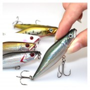 6PCS Señuelos para Pesca Conjunto de engranajes 7cm -Multicolor