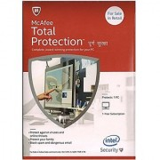 McAfee Total Protection- 1 User 1 Year CD/DVD Latest Version (Email Delivery in 2 hours- No CD)