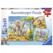 Puzzle animale, 3x49 piese