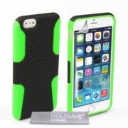 YouSave iPhone 6/6s Mesh Combo Case - Green/Black