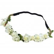 Guirnalda Sombreros Mujer Flores De La Venda Del Pelo - Beige