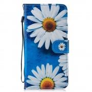 Apple iPhone XS Max (калъф кожен) 'Daisy flowers'