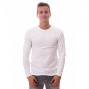 Claesens Longsleeve Round Neck White ( CL 1022) - Wit - Size: Small