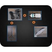 Zestaw oświetleniowy + parasol-softbox czarny 600W 230cm Z140