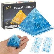 Creative IQ 3D Crystal Puzzle Jigsaw Toy Blocks Assembling Pyramid Model DIY Toys