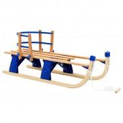 vidaXL Sanie pliabilă pentru zăpadă cu spătar, lemn, 110 cm