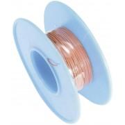 Cablu pentru conexiuni infasurate Wire-Wrap, 1 x 0.01 mm², rosu, 15 m, AWG 36