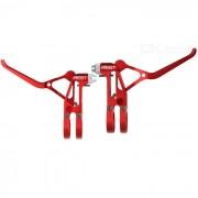 AEST YBL70A-02 Palanca de freno de aluminio CNC de aluminio con muelle - rojo (2 piezas)