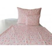 3 részes gyerek ágynemű garnitúra szett - rózsaszín alapon unikornisos mintával 140x200 cm