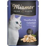 Miamor Feine Filets in Jelly tuňák a kalamáry - kapsička 100 g