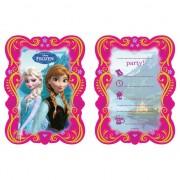 Frozen thema uitnodigingen 6 stuks