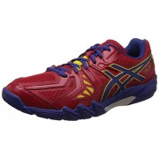 Asics Men's Gel-Blade 5 Red and Blue Indoor Multisport Court Shoes - 12 UK/India (48 EU) (13 US)